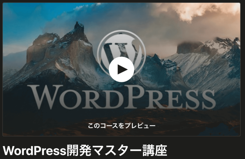 Udemy-WordPress講座紹介1